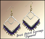 "Go to Brick Stitch Earrings ""Squared"" Info Page"