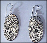 Go to Etching Sterling Silver the Electro Way: Etched Sterling Silver Earrings Info Page