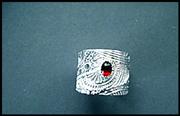 Go to Etching Sterling Silver the Electro Way: Adjustable Cigar Band Ring With a Cab Setting Info Page