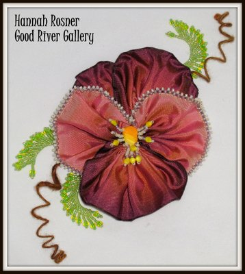 Go to Introduction to Bead Embellished French Ribbon Flowers Info Page