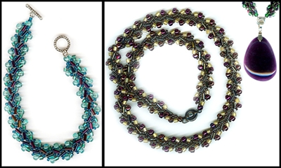 Photo of Class Beaded Soutache Necklace & Bracelet